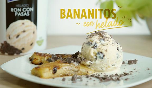 Bananitos con helado