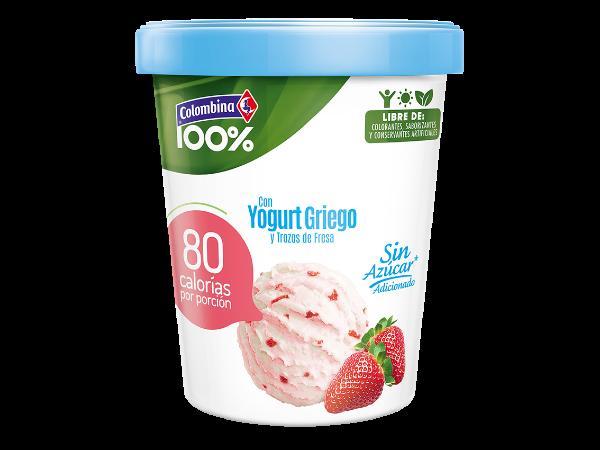Helado con Yogurt Griego